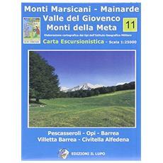 Carta e guida. Monti Marsicani, Mainarde e Valle del Giovenco. 24 escursioni. . . Con carta escursionistica 1:25.000. Ediz. italiana e inglese