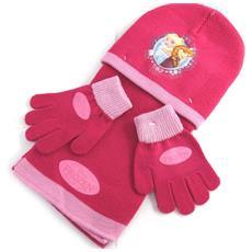 bambino insieme 'frozen - ' raspberry (guanti + cappello + sciarpa) - [ n0492]