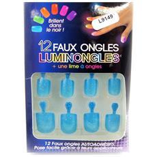 plank unghie finte 'luminongles' blu - [ l9149]