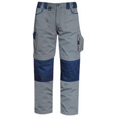 Pantalone Multitasche Goodyear In Poliestere E Cotone Colore Grigio E Blu Taglia 2xl