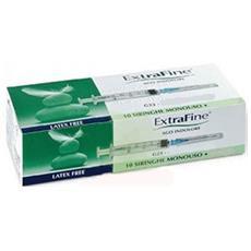 Siringa Ipodermica Extrafine 2,5 Cc G23 0,60x30 10 Pezzi