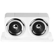 Cassa Acustica Sound Touch Maxi Basic Per Smartphone E Iphone 2x5 Watt Colore Bianco / argento 999
