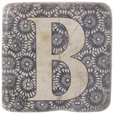 Sottobicchieri Con Lettere (9 X 9 X 0.8cm) (b)