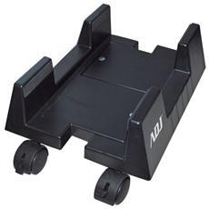 Porta Computer ADJ con gommini laterali antistatici e ruote multi direzionali con sistema di bloccaggio, per un facile e comodo spostamento Office Series Col. Nero