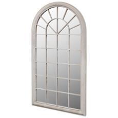 Specchio Da Giardino Con Arcata 116 X 60 Cm Per Uso Interno Ed Esterno