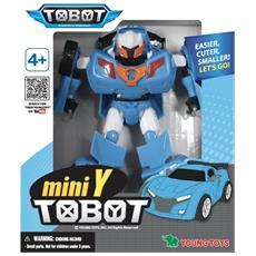 Robot Tobot Mini W Macchina Trasformabile Auto Giocattolo Bambino Blu