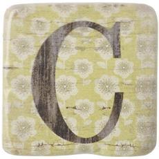 Sottobicchieri Con Lettere (9 X 9 X 0.8cm) (c)