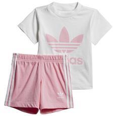 88268cfe9dfc ADIDAS - Tute Adidas Originals Shorts Tee Set Infant Abbigliamento Ragazza  98