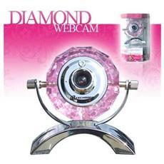 Webcam Diamante Techmade Diamond 1.3 Mega Pixel Usb 2.0 Microfono 7 Led Idea Regalo
