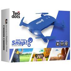 Snap The Social Drone Cam HD 1Mpx con Giroscopio stabilizzatore a 6 assi colore Blu
