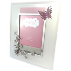 photo frame 'libellule de soie' rosa grigio (10x15 cm) - [ n8525]