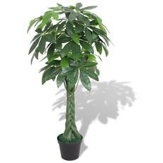 Pachira Acquatica Pianta Artificiale Con Vaso 145 Cm Verde