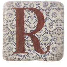 Sottobicchieri Con Lettere (9 X 9 X 0.8cm) (r)