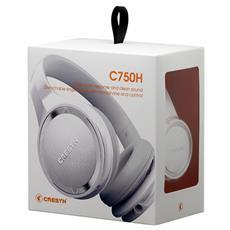 C750H Stereofonico Padiglione auricolare Bianco cuffia e auricolare