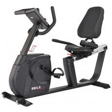 Cyclette Recumbent Ergometro Rb-4i, Cyclette Orizzontale Consolle Compatibile Con App
