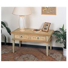 Tavolino In Legno Con 2 Cassetti 100x50