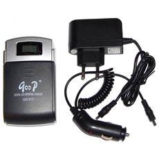Carica Batteria Li-ion Universale 2in1 Casa / auto; Li-ion Battery Lcd Digital Universal Charger