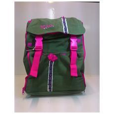 Zaino Scuola Medio Witch Verde Con Tasche Frontali - Verde / rosa