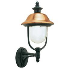 Applique in alto classica lampada da parete per esterno grigio-rame 4pz