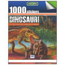 1000 stickers dinosauri. Con tanti adesivi per completare le immagini