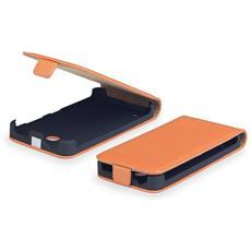 Cover Custodia Kabura Per Nokia Lumia 1320 A Portafoglio Con Apertura Verticale In Similpelle Arancione Orange Elegante E Resistente