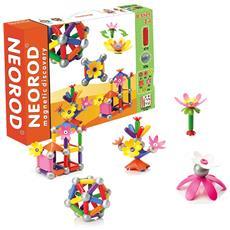 Costruttore Magnetico Per Bambini, Figure Per La Costruzione, Educativo Mini-gioco Creativo - 45 Pezzi