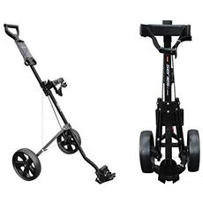 S 3 Series Allum.2 Whell Pull Trolley Black Golf Richiudibile Nero