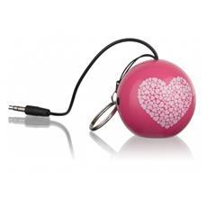 Speaker Audio Portatile Connettore Jack da 3,5 mm Colore Rosa