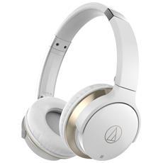 ATH-AR3BT Padiglione auricolare Stereofonico Bluetooth Bianco auricolare per telefono cellulare