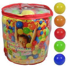 Sacchetto100 palline colorate per gonfiabili o piscine colori vari