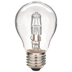 Lampadina Lampada A Goccia Alogena Attacco E27 53w - Blister 2 Pezzi