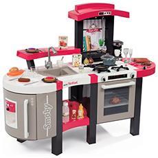 SMB7600311304 Cucina Super Chef Bubble, con 46 accessori, simula l'effetto dell'acqua che bolle, incluso cibo magico, forno, frigorifero, barbecue, dispenser del ghiaccio