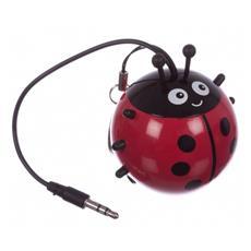 Speaker Audio Portatile Connettore Jack da 3,5 mm Colore Nero e Rosso