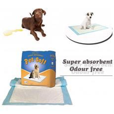 Pack 10 Traverse Per Cani 90 X 60 Cm Pet Soft Tappeto Super Assorbente Traversine Cattura Odori Bisogni Animali