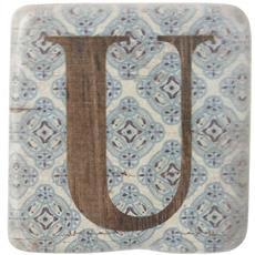 Sottobicchieri Con Lettere (9 X 9 X 0.8cm) (u)