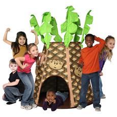 Tenda casetta palmtree monkey hut interno giocattolo gioco bimbi plastica