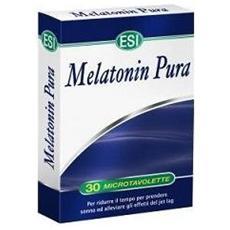 Melatonina pura 1mg 30 tavolette relax e insonnia