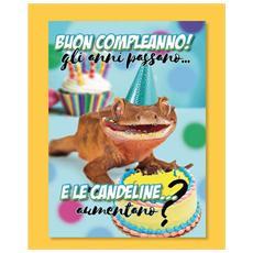 1 Biglietto D'auguri Bigliettino Musicale Compleanno Tik Tok + Busta