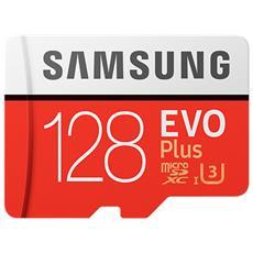MicroSDXC EVO Plus Capacità 128 GB UHS-I 3 Classe 10 Velocità fino 100 MB / s con Adattatore SD