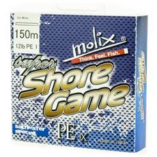 Trecciato Super Shore Game 12 Lb 150 M Unica Bianco