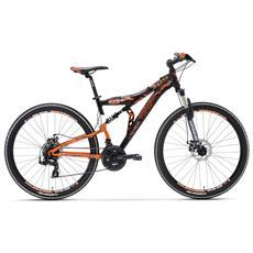 Mountain Bike Biammortizzata Lombardo Erice 300 27.5 Tx55 Nero Arancio