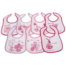 Set Di Bavaglini Con Giorni Della Settimana Blu / rosa (pacco Da 7) (neonato) (rosa)