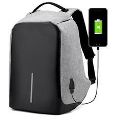 70804c425a OVERSKILL - Zaino Antifurto Backpack con Porta USB di Ricarica Colore  Grigio 43x26x11 cm