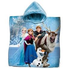 Accappatoio Poncho Asciugamano Cotone Frozen Elsa Anna Olaf Mare Bambine