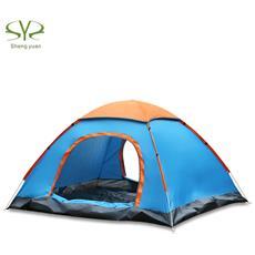 Shengyuan Impermeabile All'aria Aperta Configurazione Istantanea Automatica Due Porte 2 Persone Tenda Da Campeggio Con Parapioggia