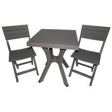 Sedie In Resina Da Esterno.Set Tavolo E Sedie Da Giardino In Resina