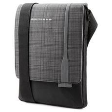 """Borsa rigida per il trasporto per Tablet 30,5 cm (12"""") - HP UltraSlim - Tracolla - Nero - Plaid grigio"""