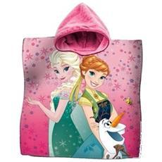 Accappatoio Poncho Asciugamano Cotone Frozen Elsa Anna Mare Bambine