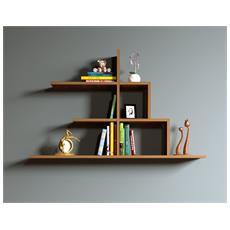 Step Mensola Da Muro - Mensola Parete - Mensola Libreria - Scaffale Pensile Per Studio / Soggiorno In Design Moderno (noce)