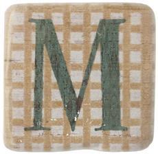Sottobicchieri Con Lettere (9 X 9 X 0.8cm) (m)